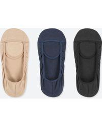 Uniqlo - Footsies (3 Pairs) (square Cut) - Lyst