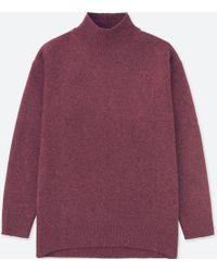 Uniqlo - Women Premium Lambswool High-neck Tunic - Lyst