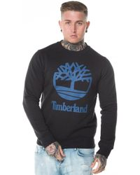 Timberland - Stacked Logo Crew Sweatshirt - Lyst
