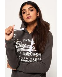 Superdry - Women's Premium Goods Doodle Entry Hoodie - Lyst