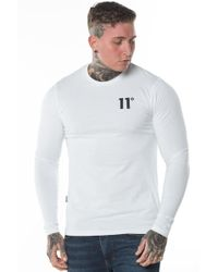 11 Degrees - Core Long Sleeve Muscle Fit T-shirt - Lyst