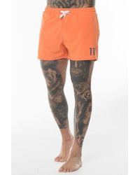 11 Degrees - Contrast Logo Swim Shorts - Lyst