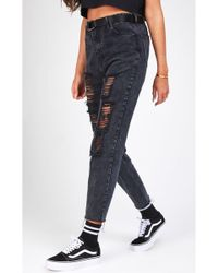 SIKSILK - Women's R.i.p Mom Fit Jeans - Lyst