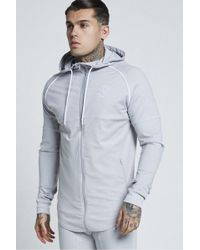 SIKSILK - Zonal Zip Through Hoodie - Lyst