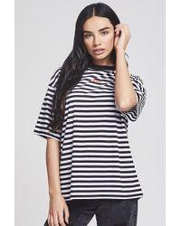 SIKSILK - Women's Retro Stripe Tee - Lyst