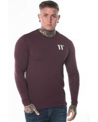 11 Degrees - Long Sleeve Muscle Fit T-shirt - Lyst