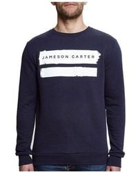 Jameson Carter - Paint Stripe Crew Neck Sweat - Lyst