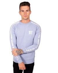 b3f12a0392d1 Lyst - 11 Degrees Flame Triple Chevron Sweatshirt in White for Men