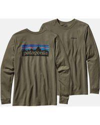 Patagonia - P-6 Logo Long Sleeve T-shirt - Lyst
