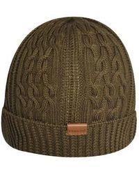 Kangol - Aran Cable Turn Up Beanie Hat - Lyst