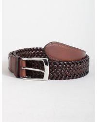 Dents - Plaited Leather Belt - Lyst