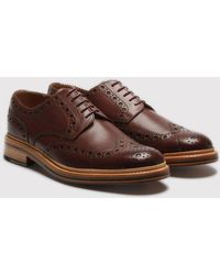 Grenson - Archie Calf Brogue Shoes - Lyst