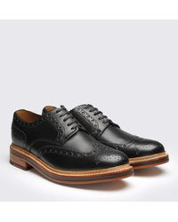 Grenson - Black Leather Archie Brogues - Lyst