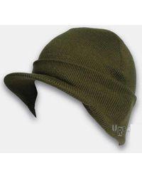 UrbanExcess - Cuffed Peaked Visor Beanie Hat - Lyst