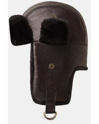Bailey of Hollywood - Bailey Vega Fur Leather Trapper Hat - Lyst