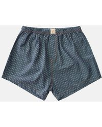 Nudie Jeans - Cross Chambray Boxer Shorts - Lyst