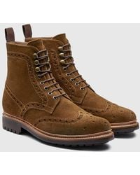 Grenson - Fred Brogue Boot (suede) - Lyst