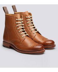 Grenson - Womens Ella Brogue Boots - Lyst