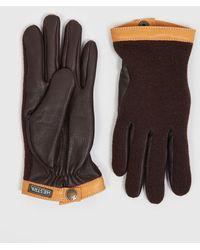 Hestra - Tricot Deerskin Wool Gloves - Lyst