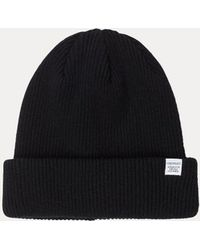 Norse Projects - Norse Beanie Black - Lyst
