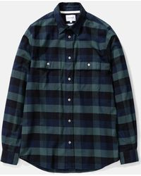 Norse Projects - Villads Check Brushed Flannel Shirt - Lyst