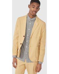 Gant Rugger Cotton Blazer Jacket - Natural