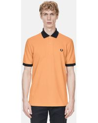Fred Perry - Contrast Rib Pique Polo Shirt - Lyst