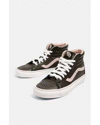 Vans - Sk8-hi Reissues Black + Vivid Pink Trainers - Womens Uk 4 - Lyst