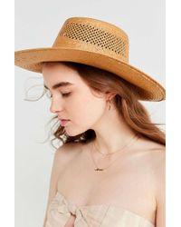 Brixton - Wide Brim Straw Hat - Lyst