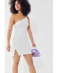 e88f37af7559 Lyst - Motel Sattia Zebra Sequin One-shoulder Mini Dress - Save 25%