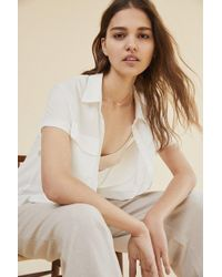 Urban Outfitters - Uo Short Sleeve Pocket Button-down Shirt - Lyst