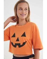 Truly Madly Deeply - Pumpkin Cropped Tee - Lyst