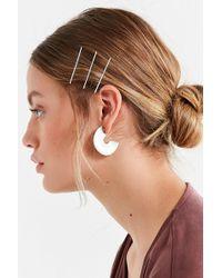Urban Outfitters - Lena Half-moon Statement Hoop Earring - Lyst