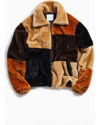 302919e39 Uo Patchwork Faux Fur Jacket