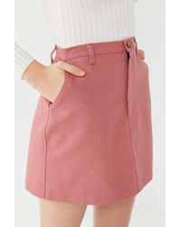 Urban Renewal - Remnants Canvas Utility Mini Skirt - Lyst