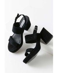 e529ea252bd2 Lyst - Steve Madden Reba Suede Platform Block Heel Dress Pumps in Black