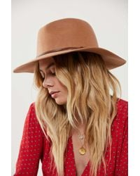 Urban Outfitters - Felt Leather Trim Panama Hat - Lyst