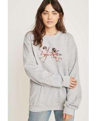 Urban Outfitters - L'amour Nous Unit Cherub Sweatshirt - Womens Xs - Lyst
