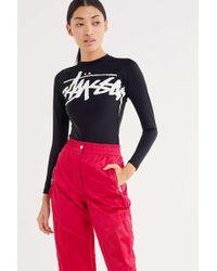 Stussy - Nylon Stock Logo Long Sleeve Tee - Lyst