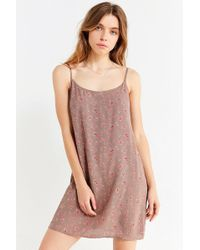 Urban Outfitters - Urban Renewal Remnants Ditsy Floral Slip Dress - Lyst