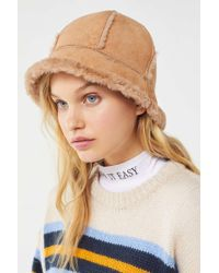 Urban Outfitters - Sherpa + Suede Bucket Hat - Lyst