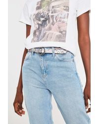 Urban Outfitters - Uo Snake Print Double Ring Belt - Womens S - Lyst