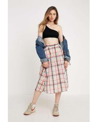 a706d4dbae62 Urban Outfitters Uo Mustard Yellow Checked Pelmet Skirt - Womens Xs ...
