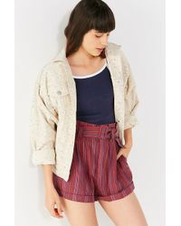 Urban Outfitters - Uo Johnny Belted Paperbag Short - Lyst