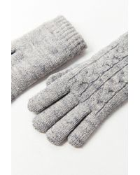 Urban Outfitters - Cable Knit Chenille-lined Glove - Lyst