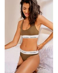 5722b6d2cebca Urban Outfitters · Calvin Klein - Clay Modern Cotton Crop Bra Top - Womens  S - Lyst