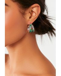 Urban Outfitters - Abalone Hoop Earring - Lyst