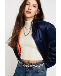Urban Outfitters - Dalmatian Print Leather Belt - Lyst