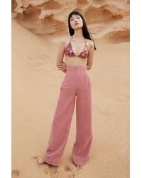 BDG - Pink Corset Corduroy Jeans - Lyst