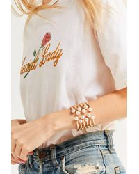 Urban Outfitters - Pearl Cuff Bracelet - Lyst